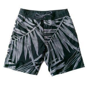GAP Men's Black Palm Tree Board Shorts Size S